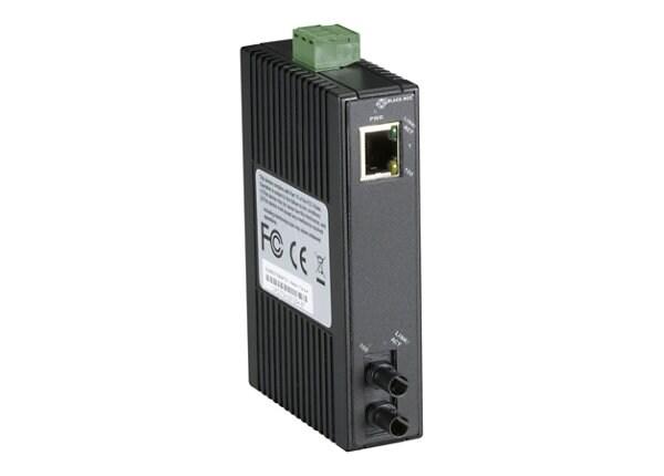Black Box Hardened Mini Industrial - fiber media converter - 10Mb LAN, 100M