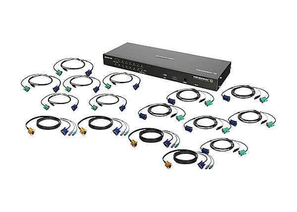 IOGEAR GCS1816IKIT - KVM switch - 16 ports - rack-mountable - with PS/2 and