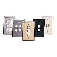 Leviton QuickPort wall mount plate