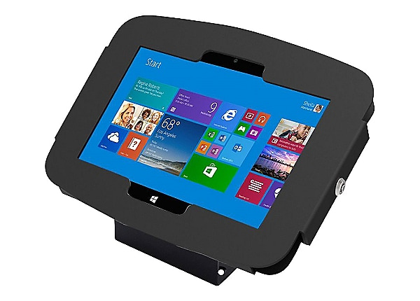 Compulocks Space 45° - Surface 3 Wall Mount / Counter Top Kiosk - Black - m