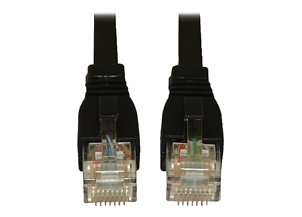 Tripp Lite 7ft Augmented Cat6 Cat6a Snagless 10G Patch Cable RJ45 M/M Black