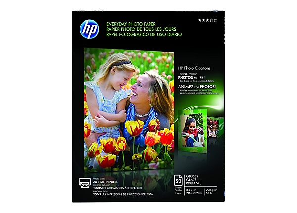 HP Everyday - photo paper - 50 sheet(s) - Letter - 200 g/m²