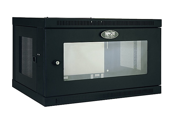 Tripp Lite 6U Wall Mount Rack Enclosure Cabinet Acrylic Window Switch Depth