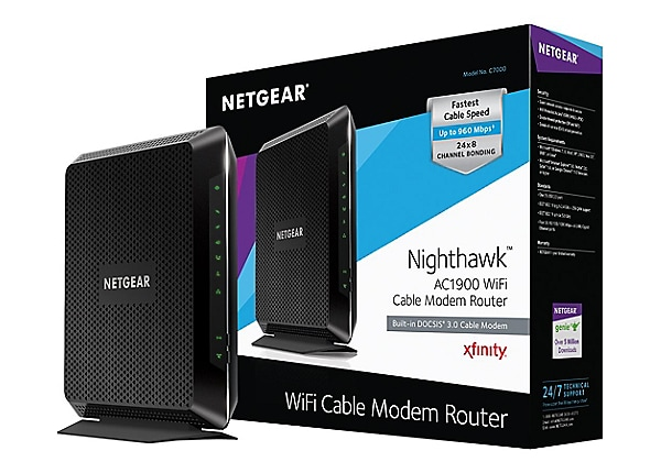 NETGEAR AC1900 Nighthawk WiFi Cable Modem Router (C7000-100NAS)