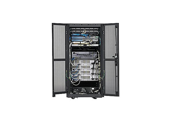 Panduit Pre-Configured Industrial Micro Data Center - rack - 24U