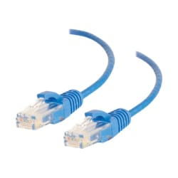 C2G 5ft Cat6 Snagless Unshielded UTP Slim Network Patch Ethernet Cable Blue