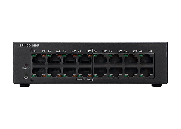 Cisco Small Business SF110D-16HP - commutateur - 16 ports - non géré