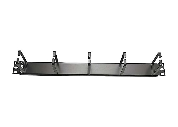 C2G 1U Horizontal Cable Management Panel with 5 D-Rings - cable management