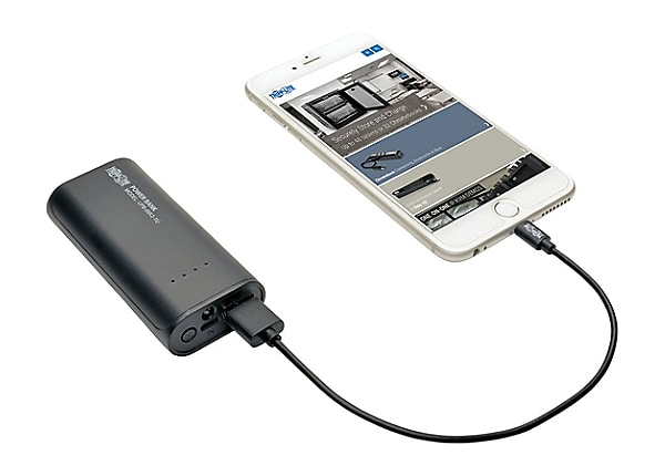Power Bank Charger >> Tripp Lite Portable 1 Port Usb Battery Charger Mobile Power Bank 5 2k Mah
