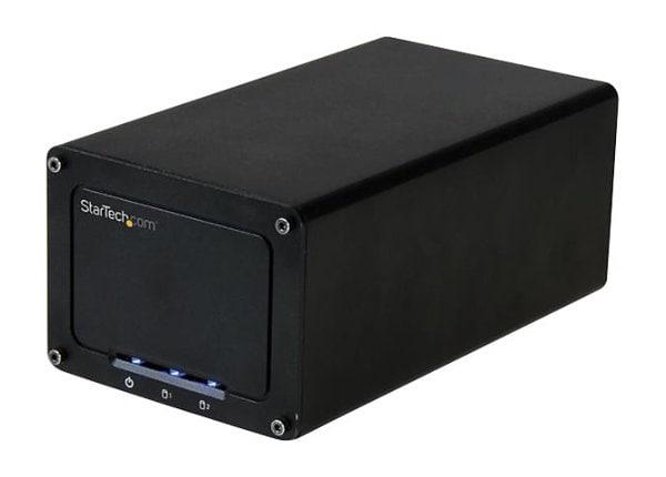 "StarTech.com USB 3.1 Hard Drive Enclosure for Dual 2.5"" SATA Drives"