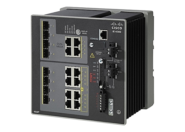 Cisco Industrial Ethernet 4000 Series - switch - 16 ports - managed