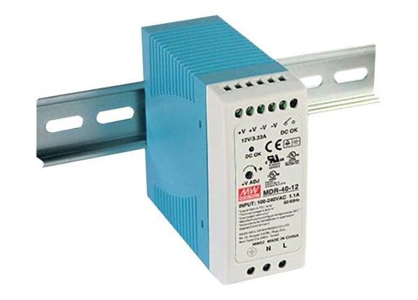 Mean Well MDR-40 series MDR-40-12 - power supply - 40 Watt