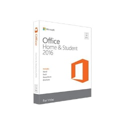 Microsoft Office for Mac Home and Student 2016 - box pack - 1 license