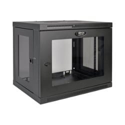 Tripp Lite 9U Wall Mount Rack Enclosure Cabinet Acrylic Window Switch Depth