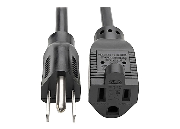 Tripp Lite Computer Power Extension Cord 10A 18AWG 5-15P to 5-15R Black 10'