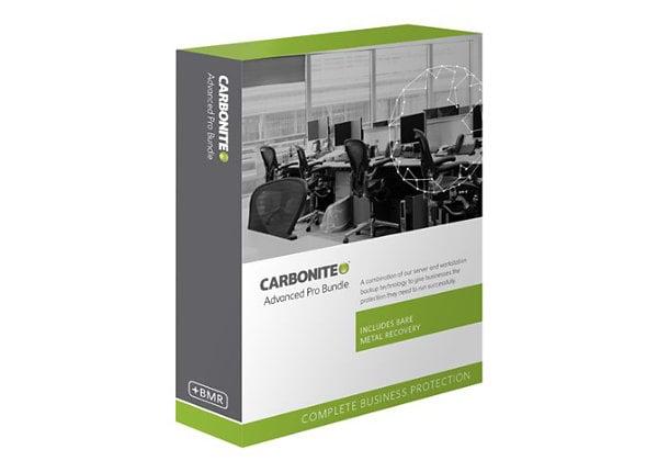 Carbonite Advanced Pro Bundle - subscription license (1 year) - unlimited p