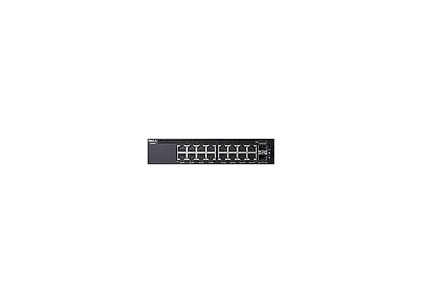 Dell Networking X1018P - switch - 16 ports - managed - rack-mountable