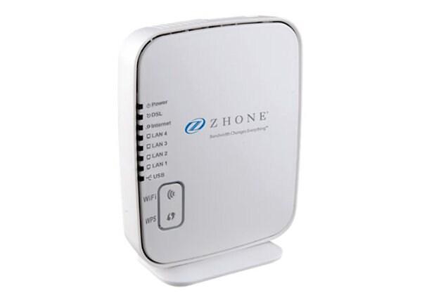 Zhone 6519-W1 - wireless router - DSL modem - 802.11b/g/n - desktop