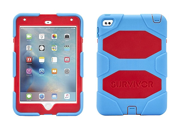 Griffin Survivor All-Terrain - protective case for iPad Mini 4 Blue/Red