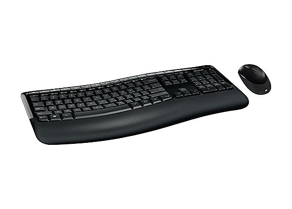 Microsoft Wireless Comfort Desktop 5050 - keyboard and mouse set - Canadian
