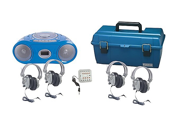 Hamilton Val-U-Pack CD Listening Center 4 Person - boombox - CD, Cassette