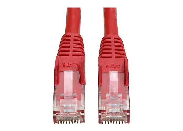 Tripp Lite 15ft Cat5e Cat5 Snagless Molded Patch Cable RJ45 M/M Red 15'