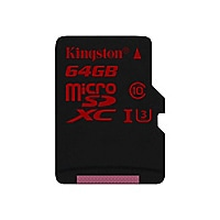 Kingston - flash memory card - 64 GB - microSDXC UHS-I