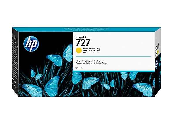 HP 727 - High Capacity - dye-based yellow - original - DesignJet - ink cart