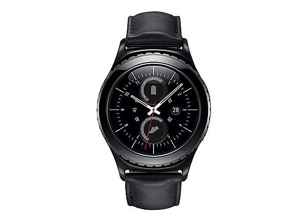 Samsung Gear S2 Classic - black - smart watch with band black - 4 GB
