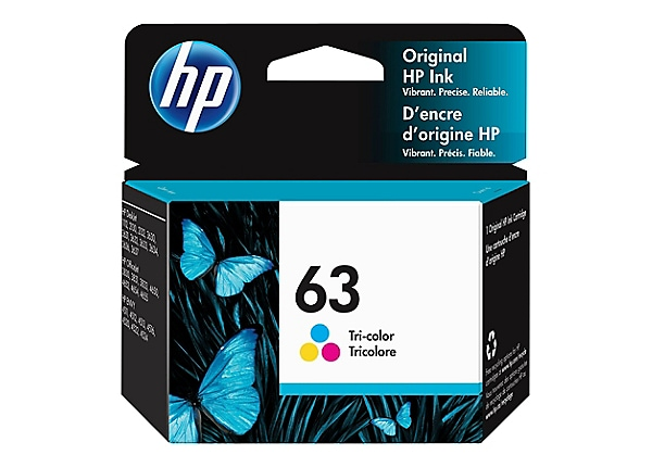 HP 63 - color (cyan, magenta, yellow) - original - ink cartridge