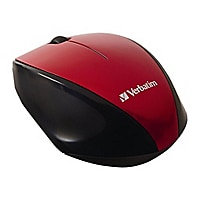 Verbatim Wireless Multi-Trac Blue LED - mouse - red