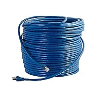 C2G 75ft Cat6 Snagless Solid Shielded Ethernet Network Patch Cable - Blue -
