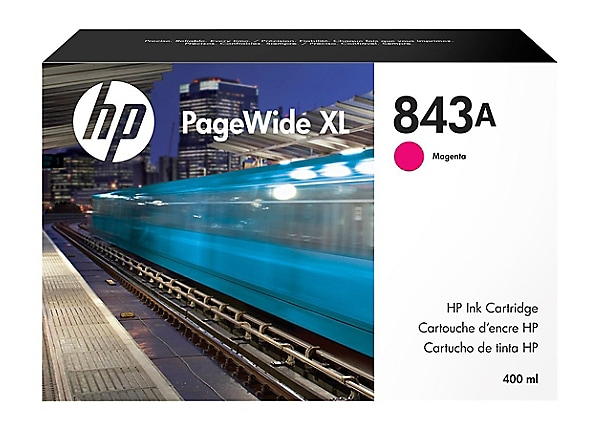 HP 843A - magenta - original - PageWide XL - ink cartridge