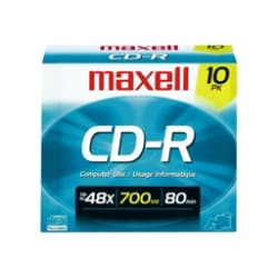 Maxell CD-R700 Branded Discs, 10-pack