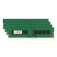 Crucial - DDR4 - 32 GB : 4 x 8 GB - DIMM 288-pin