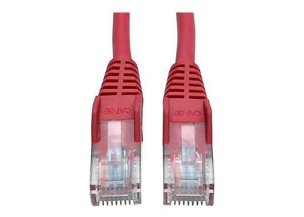 Tripp Lite 14ft Cat5e / Cat5 350MHz Snagless Patch Cable RJ45 M/M Red 14'