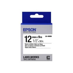 Epson LabelWorks LK-4WBN - label tape - 1 roll(s) - Roll (0.47 in x 29.5 ft
