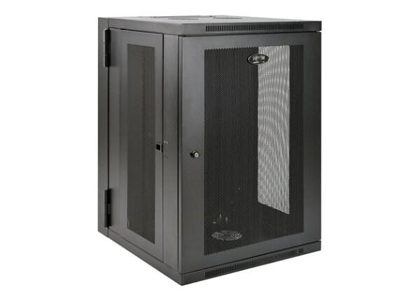 Tripp Lite 18U Wall Mount Rack Enclosure Server Cabinet Swinging Hinged Doo