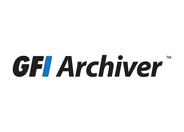 GFI Archiver - license + 1 year Software Maintenance Agreement - 1 mailbox