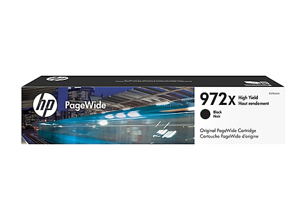 HP 972X - High Yield - black - original - PageWide - ink cartridge