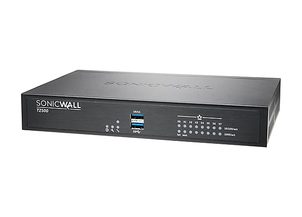 Sonicwall TZ500 - security appliance - with 1 year Support Service 8x5