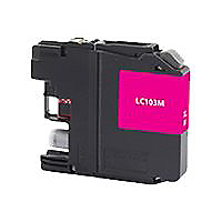 Clover Remanufactured Ink for Brother LC103M, Magenta, 600 page yield