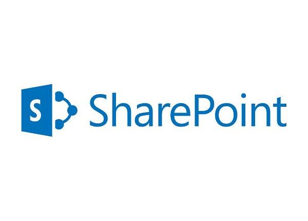 Microsoft SharePoint Server 2016 Standard CAL - license - 1 user CAL