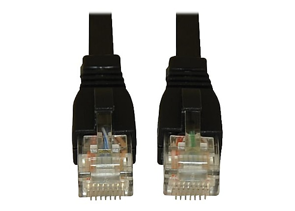 Tripp Lite 25ft Augmented Cat6 (CAT6a) UTP Snagless Patch Cable Black 25'