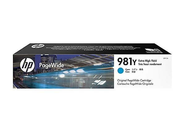HP 981Y - Extra High Yield - cyan - original - PageWide - ink cartridge