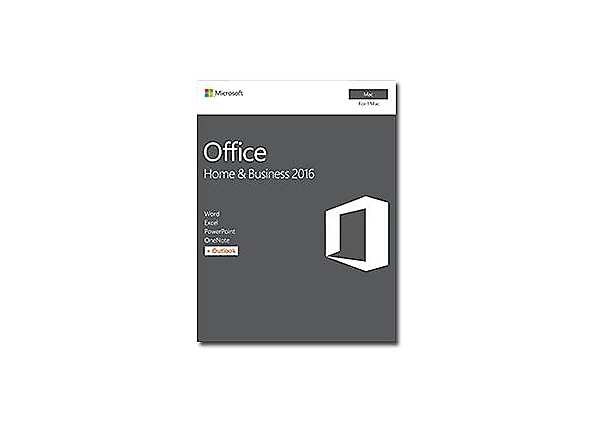 Microsoft Office For Mac Home And Business 2016 Box Pack 1