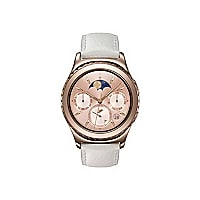 Samsung Gear S2 Classic - rose gold - smart watch with strap ivory - 4 GB