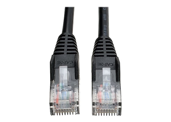 Tripp Lite 3ft Cat5e Cat5 350MHz Black Snagless Molded Patch Cable RJ45 3'