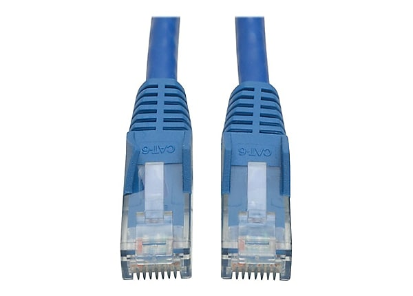 Tripp Lite Cat6 Gigabit Snagless Molded Patch Cable (RJ45 M/M) Blue, 3'