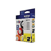 Brother LC-201Y - yellow - original - ink cartridge